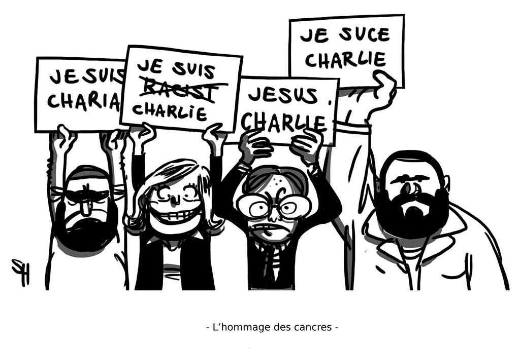 L hommage des cancres a Charlie Hebdo by Saint-Helens