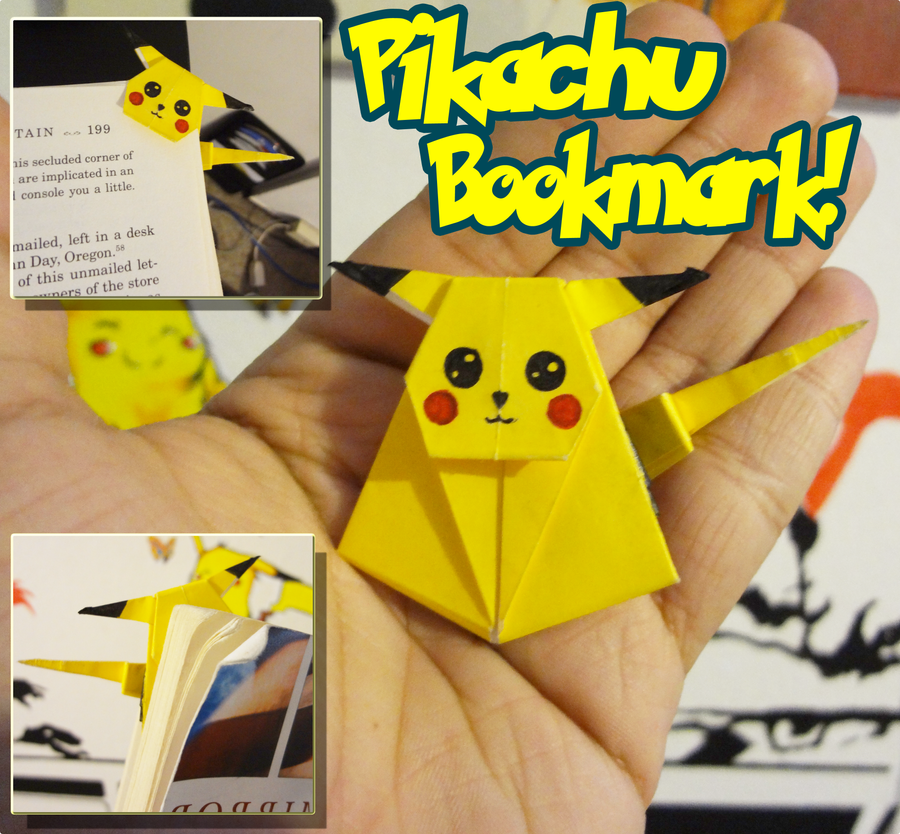 Bookmark Pokemon Origami Book Pikachu
