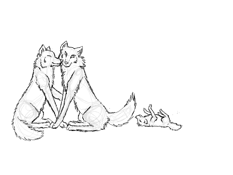 Wolf Mates sketch- by ...