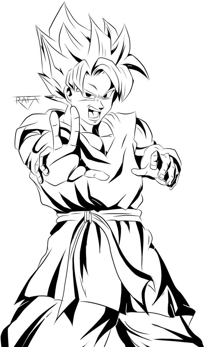 Son Goku - Dragon Ball Z by RafaDrawing on DeviantArt