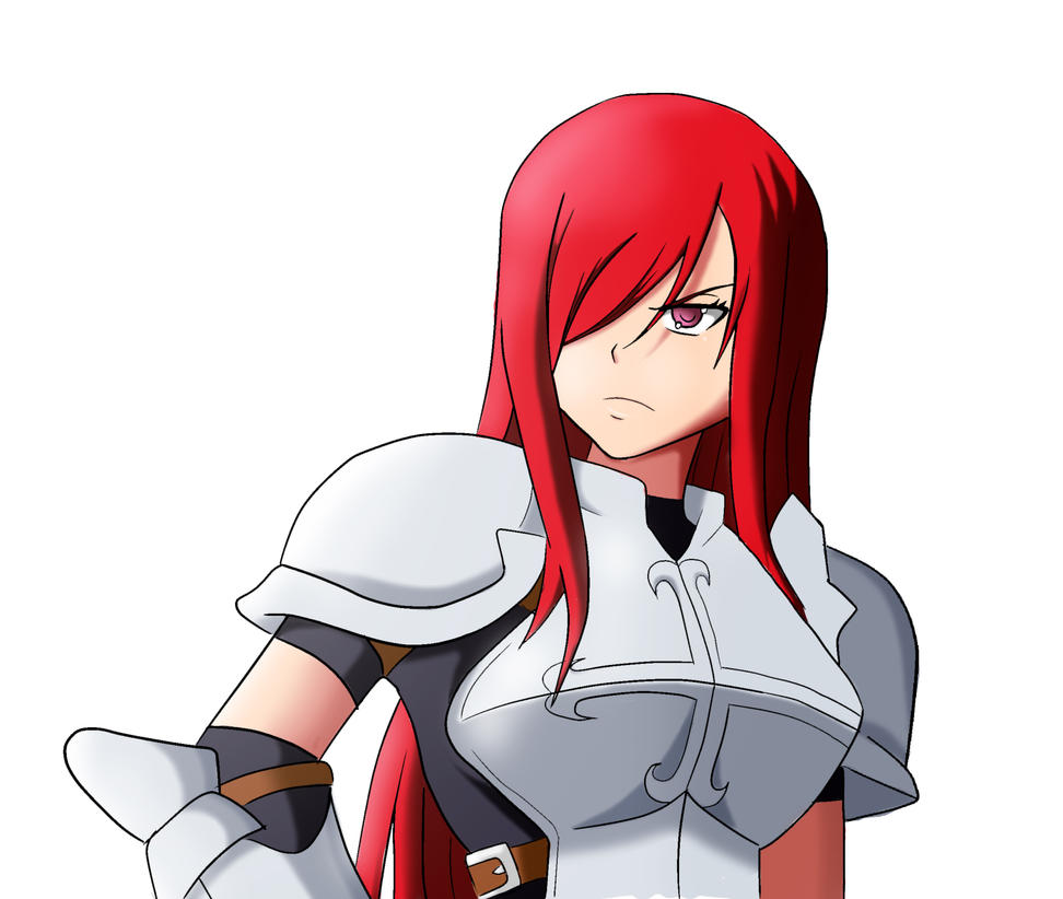 Erza-Fairy Tail by RafaDrawing on DeviantArt