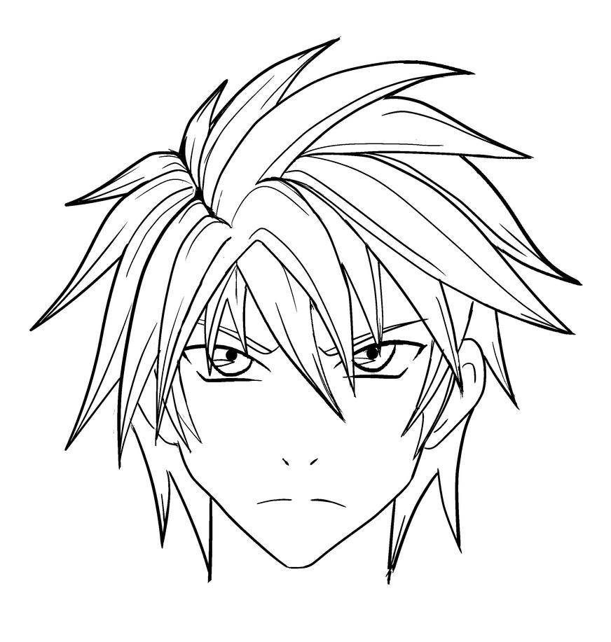 Pencil Drawings Of Anime Characters: Manga Character- Sem Nome- No Name By RafaDrawing On