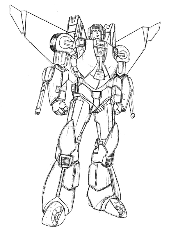 Star trek transformers mashup starscream by ihlecreations for Starscream coloring page