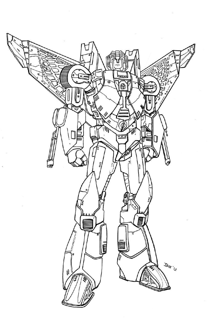 Star trek transformers mashup starscream by ihlecreations for Transformers coloring pages starscream