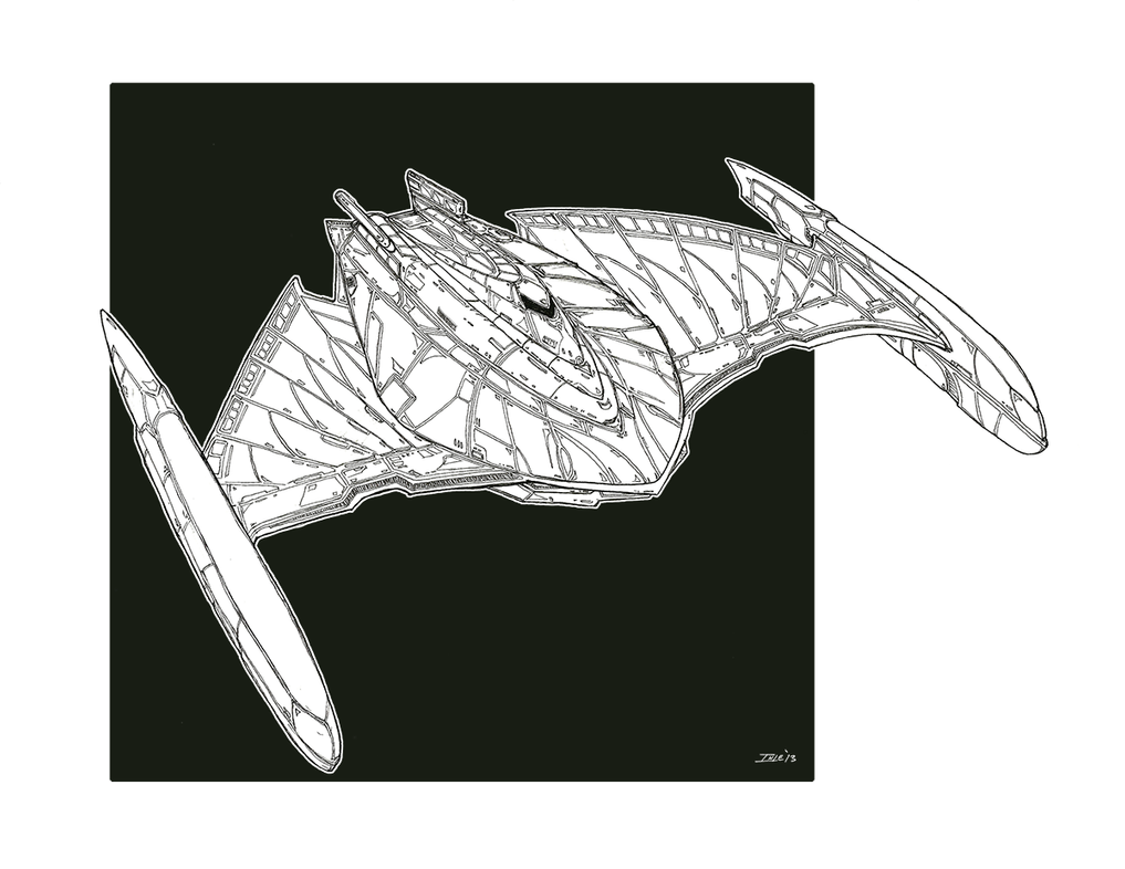 Discarded 25th C. Romulan Bird of Prey Concept by Ihlecreations