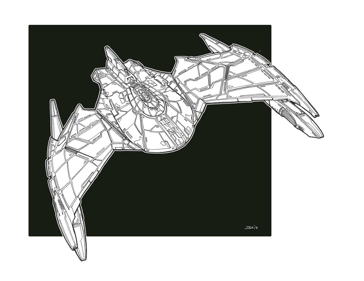25th Century Romulan Bird Of Prey Redux Concept by Ihlecreations