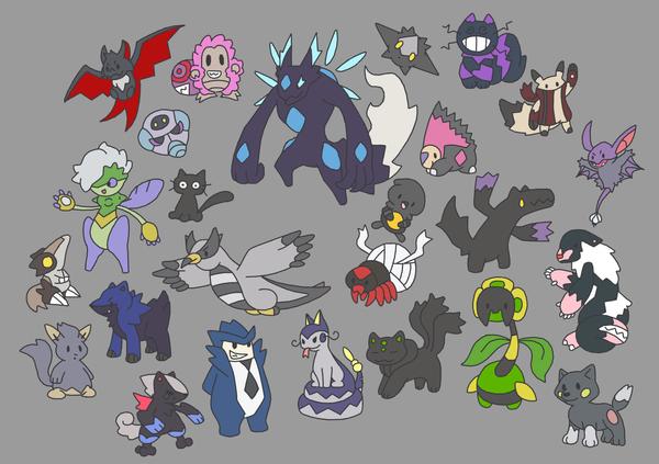Dark Fakemon by Ironwolf09