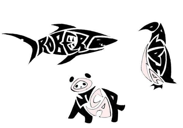 NameAnimal Tribal Tattoos by Ironwolf09 on deviantART