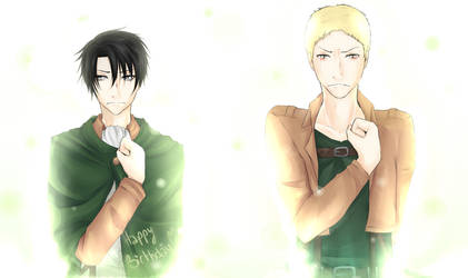 Reiner and Rivaille : Happy Birthday Irony by MllxYume