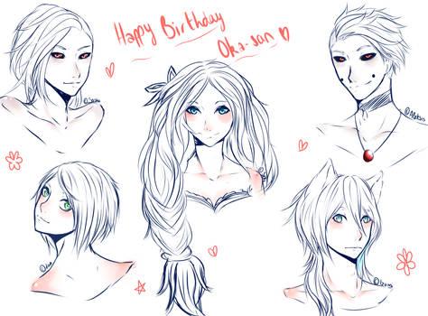 HeadSketch : Happy Birthday Chu-chan