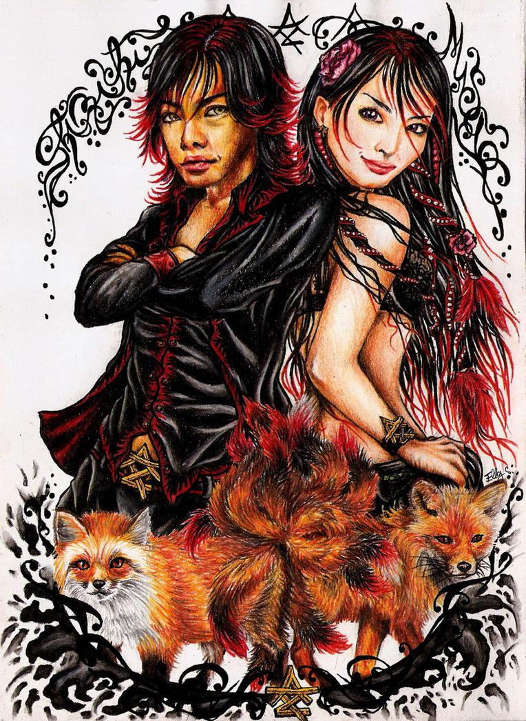 Kitsune: Shinichi and Misao by vvveverka