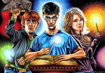 Harry Potter Trio by vvveverka
