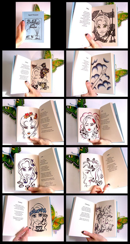 Zlodejky Nebe - cover and illustrations by vvveverka