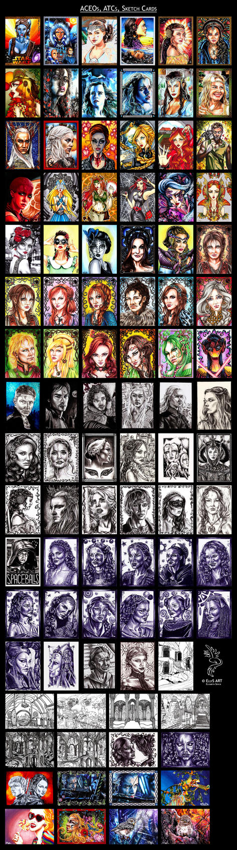 ACEOs, ATCs, Sketch Cards - full collection by vvveverka
