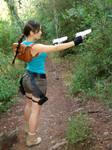 Lara Croft aiming