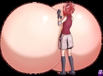 [CM] Sakura breast expansion - back view by Mit-boy
