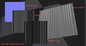 Using MMD to create seamless normal maps
