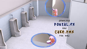 Download Portal.fx and Cake.pmx for MMD