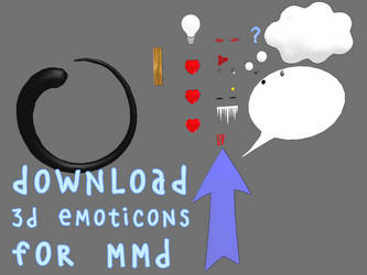 Download 3D emoticons for MMD