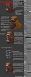 Making facials with Blender's Laplacian deform by vasilnatalie