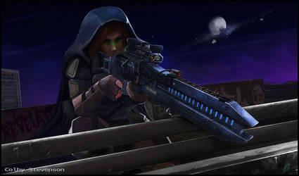 Amber Rail gun. by ColbyStevenson