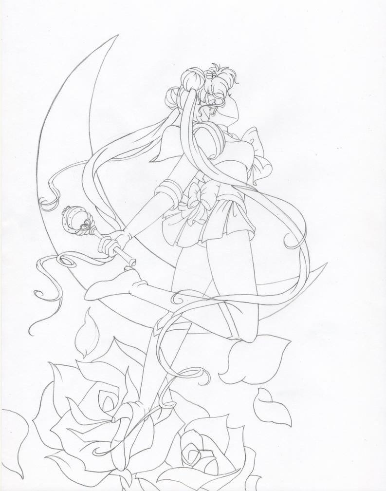 D Line Drawings Not Working : Sailor moon line work by lotuscrystal on deviantart