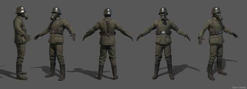 Soldier spread by IonChirita