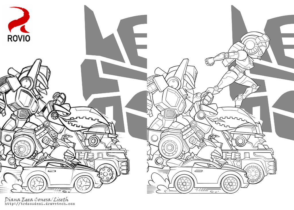 Colouring Pages Angry Birds Transformers Autobirds By Liseth On Deviantart