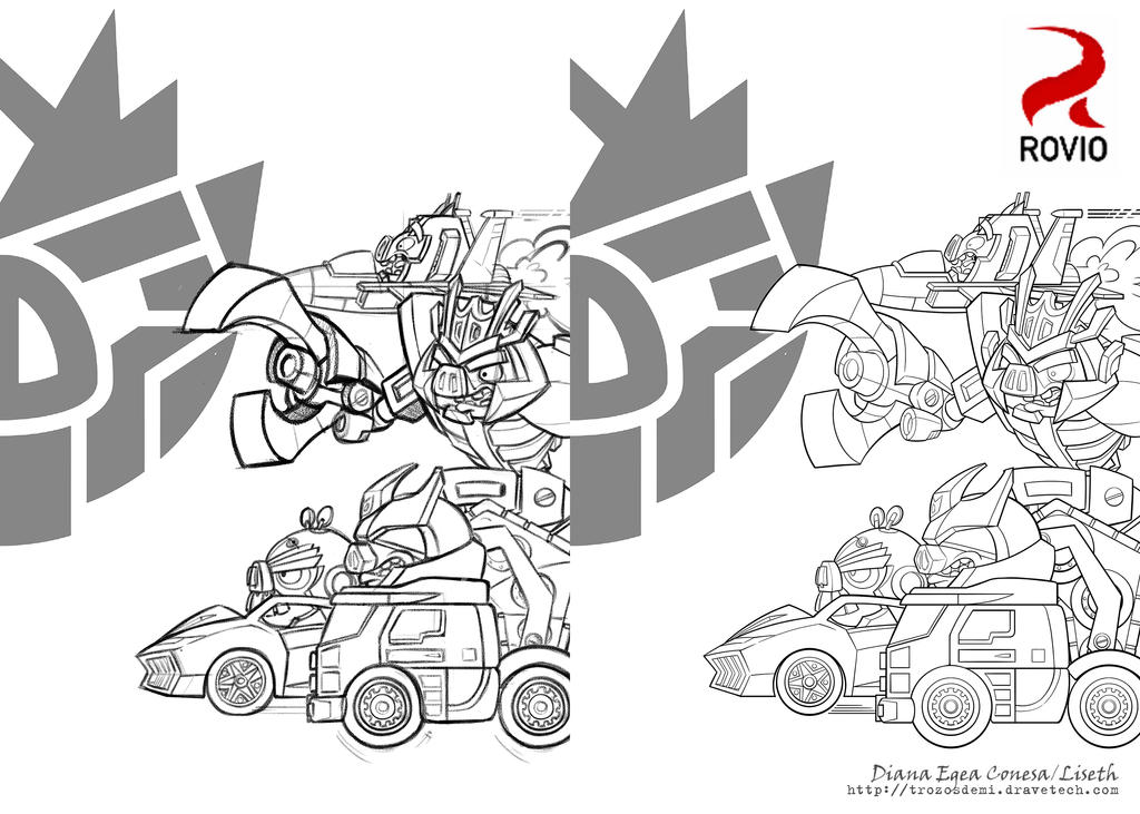 coloring pages angry birds transformers - photo#20
