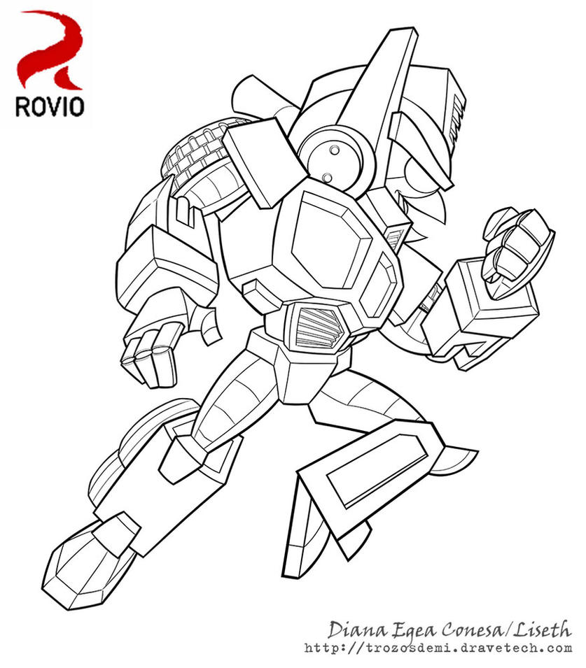 Angry Bird Transformers Coloring Pages Virtrencom