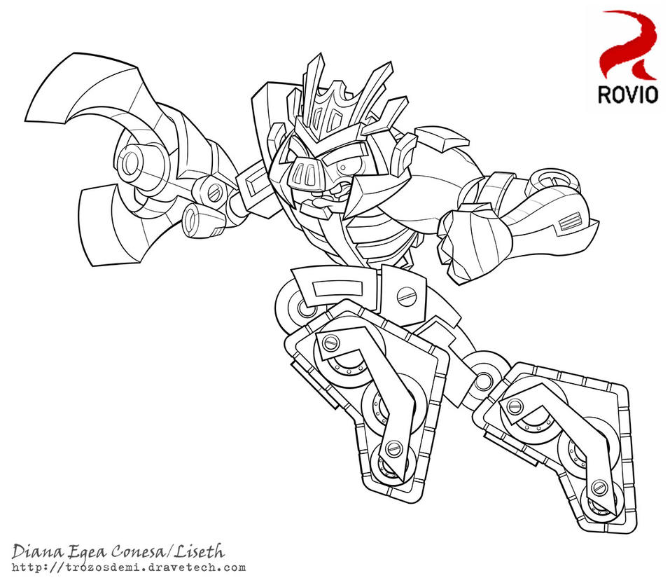angry birds transformers megatron by liseth on deviantart