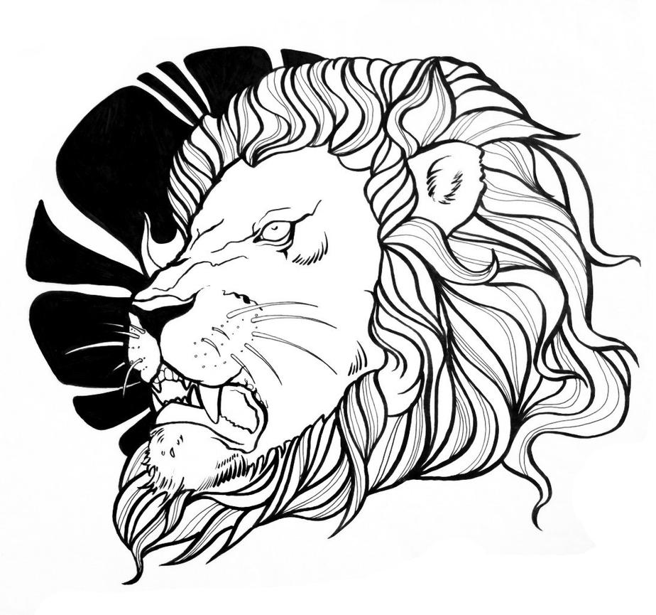 Line Art Lion : Lion line by weliss on deviantart