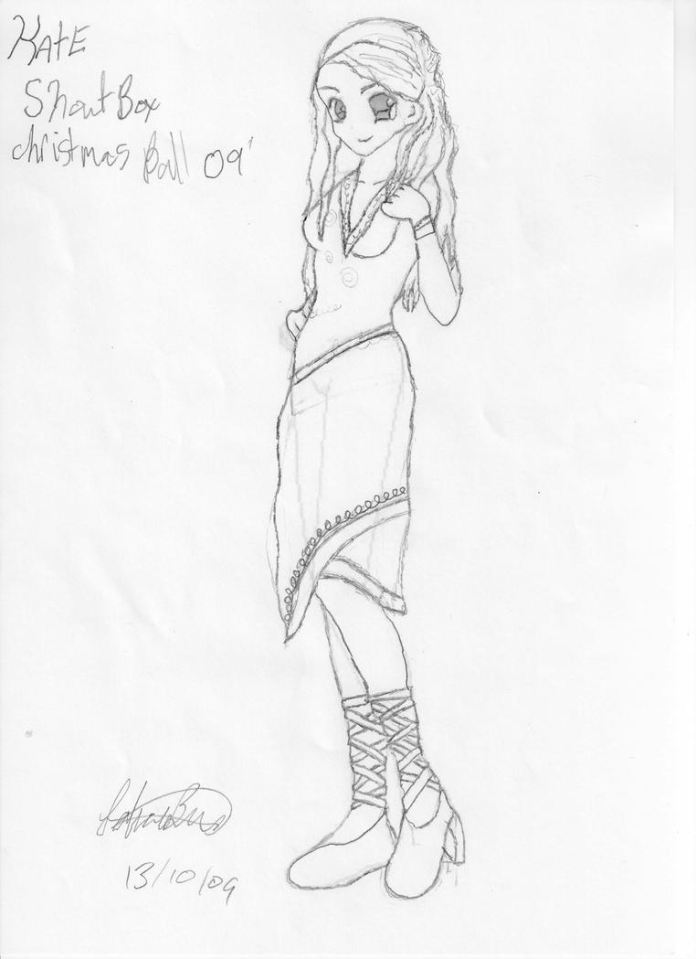 Kate\'s SB X-mas ball gown BW by Anime-Princess-Fa on DeviantArt
