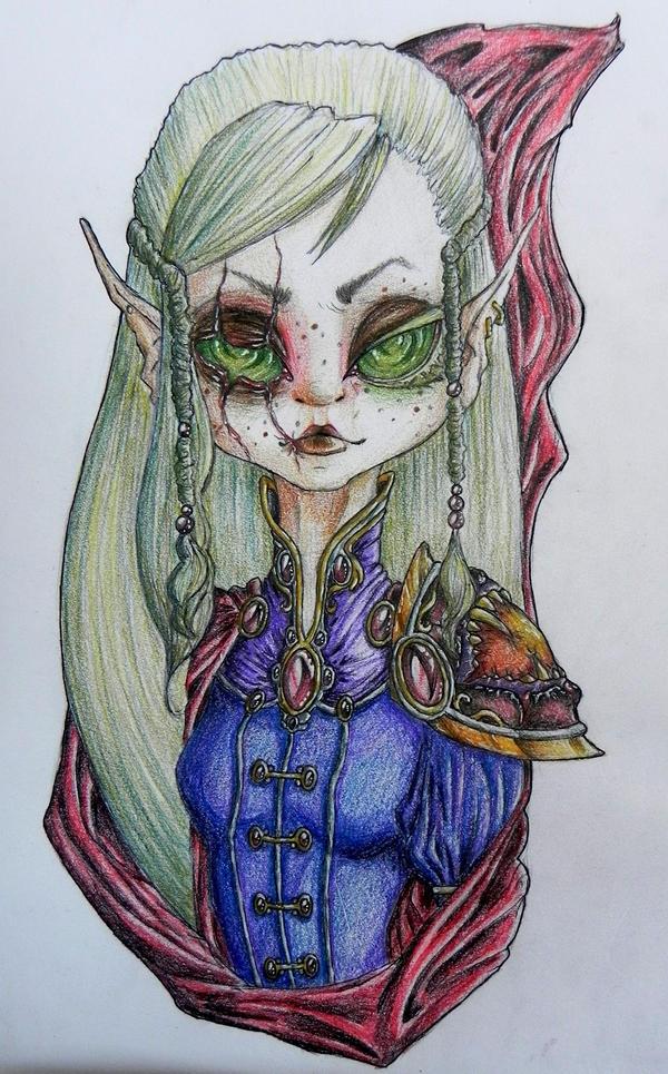 Blood elf by Willuna