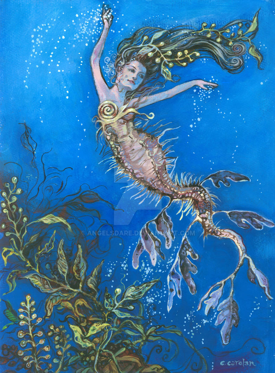 Leafy sea dragon mermaid by angelsdare on DeviantArt