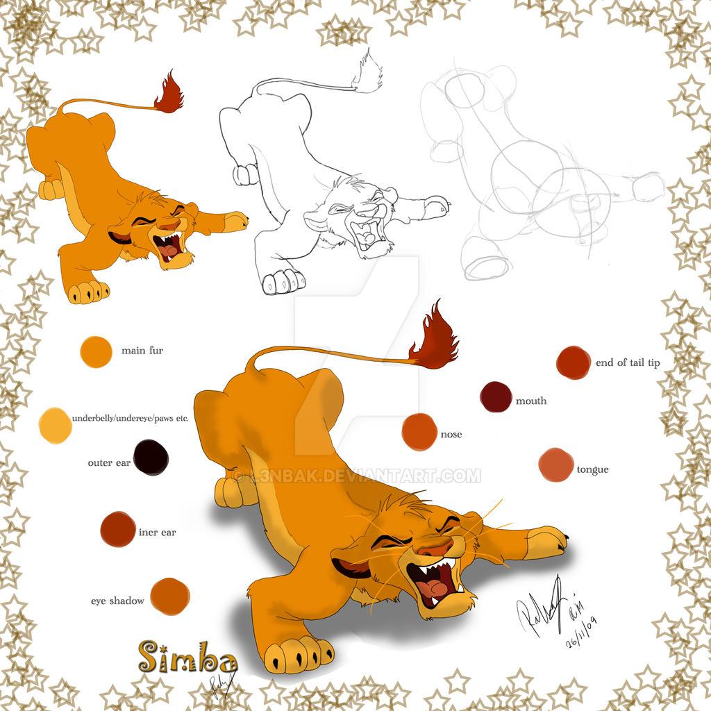 Uncategorized How To Draw Simba And Nala drawing simba by l3nbak on deviantart l3nbak