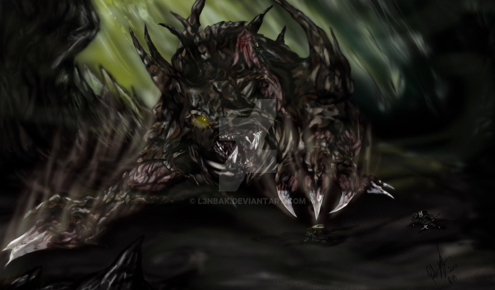 The corporeal beast hunt by l3nbak on deviantart
