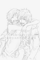 Haruna and Yoh by YamiMatsuo