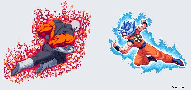 Goku vs Jiren by GhoulGlifer