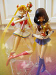 Super Sailor Moon and Sailor Saturn