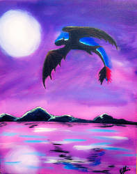 Nightfury Night Flight by EveSinclair