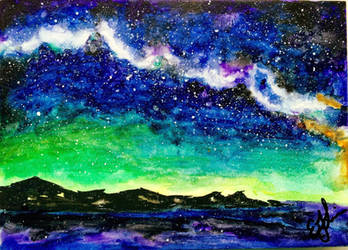 Watercolor Sky by EveSinclair