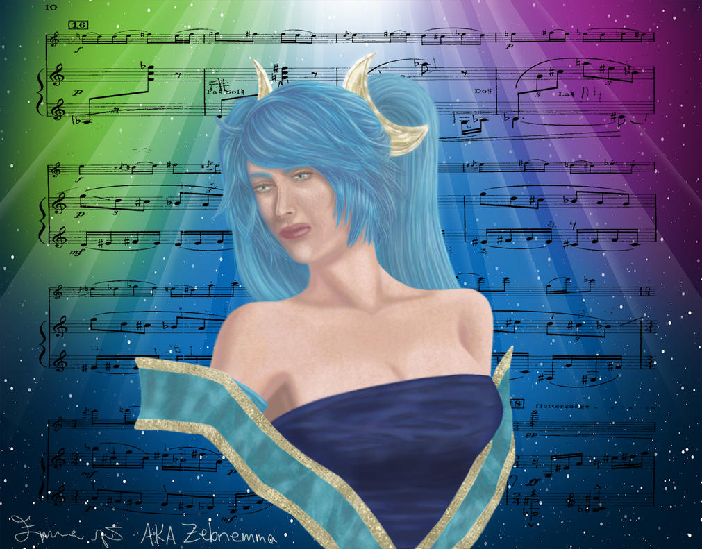 Sona, the maven of the strings by zebnemma