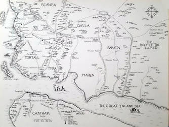 Tortall World Map by Kelendry