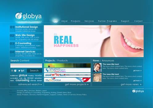 Globya.net v3 interface flash
