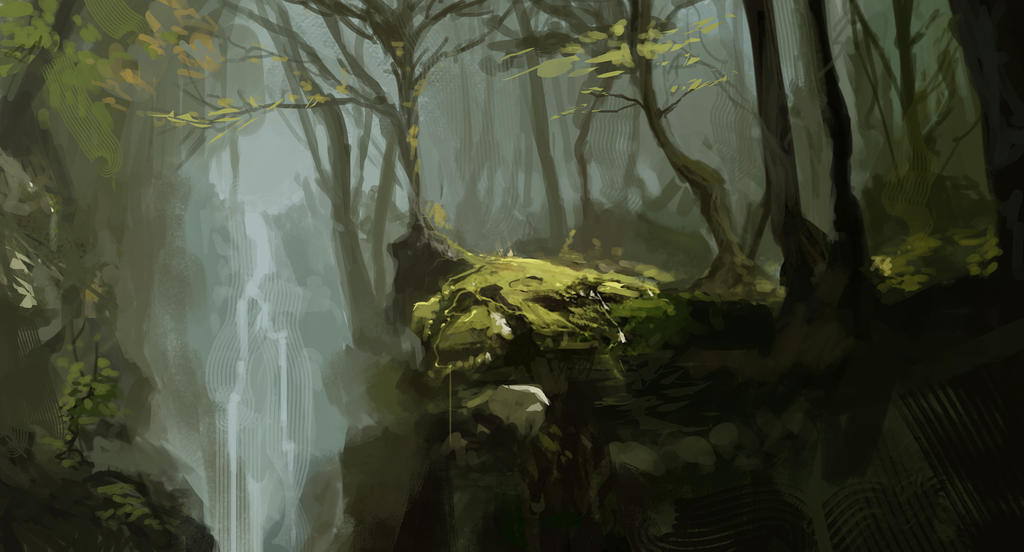 Forest Sketch by SamTheConceptArtist