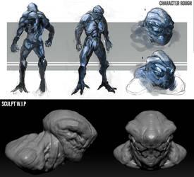 Creature WIP by SamTheConceptArtist