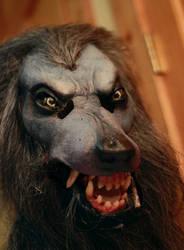 Werewolf mask in progress 2