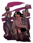 Michonne and her Zombies COLOR