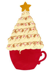 Hot Chocolate Christmas Tree by maxwell-heza